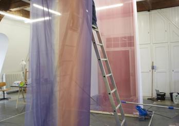 Mäntel: Malerei auf Nylon