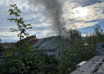 20210706_Un incendie se déclare dans un bâtiment déjà grêlé à Bulle