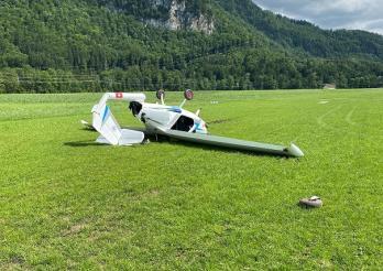 Accident d'avion à Epagny/Flugzeugunfall in Epagny