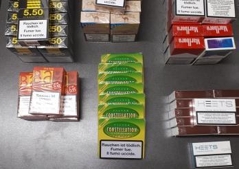 1 lot de cigarettes, cigarillos et heets