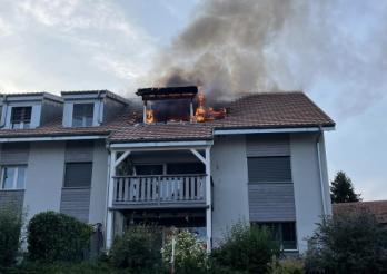 Incendie à Rueyres-les-Prés