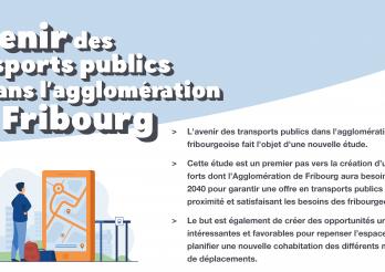 Étude sur l'avenir des transports publics dans l'agglomération de Fribourg