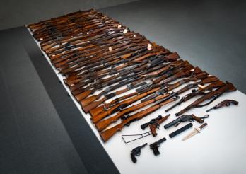 Infractions à la Loi sur les armes à Semsales / Widerhandlungen gegen das Waffengesetz in Semsales