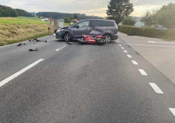 Un motocycliste blessé à Siviriez
