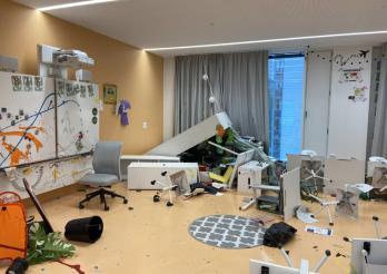 L'école de la Vignettaz à Fribourg saccagée / Die Vignettaz-Schule in Freiburg verwüstet