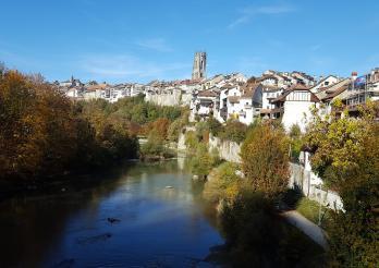 Le paysage de la ville de Fribourg