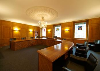 Sitzungszimmer des Staatsrates, © Aldo Ellena