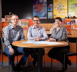 De gauche à droite : Emanuel, Peter, Laurence