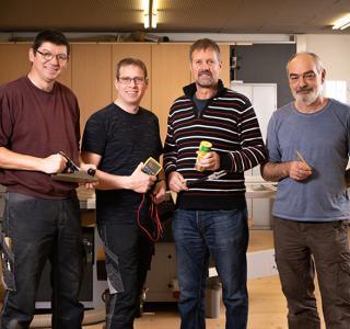 De gauche à droite : Guy, Pascal, Leo, Boris