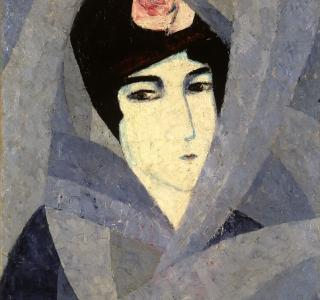 Jean Crotti, Femme au turban à la rose, 1914