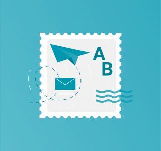 Illustration d'un timbre poste pour le vote par correspondance