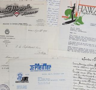 Correspondance d'Otmar Büchi