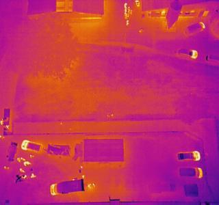 La caméra thermique du drone