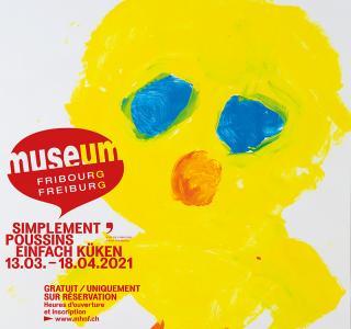 """Une des affiches de l'expo """"Simplement Poussins"""""""