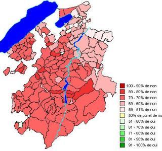 Résultats par districts