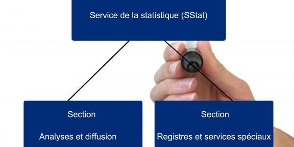 Organigramme du Service de la statistique