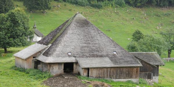 Le chalet de La Monse (Val-de-Charmey) le plus ancien repéré dans le canton, construit en 1500 et agrandi en 1618 à une époque où huit habitations formaient encore le hameau de La Monse abandonné au début du XVIIIe siècle.