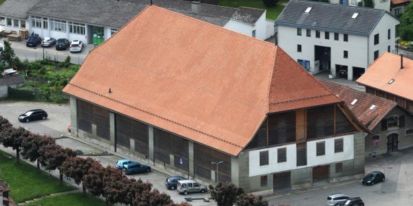 Le Grand Werkhof de Fribourg, incendié le 19 septembre 1999, réhabilité en 2015-2017, Bakker et Blanc, architectes