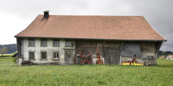 Vaulruz, ferme construite en 1841-1843 pour François Pittet aux Ponts d'Avau