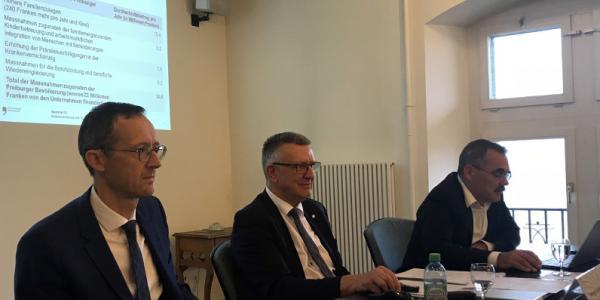 Olivier Curty, Georges Godel et Jean-François Steiert