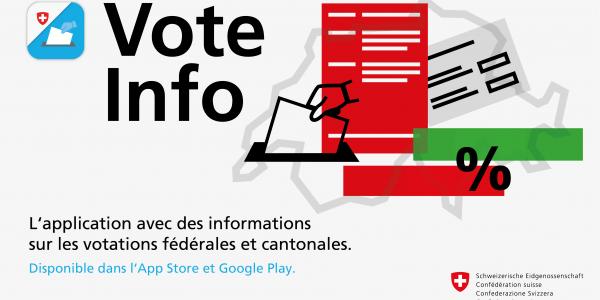 L'app VoteInfo est disponible dans l'App Store et Google Play