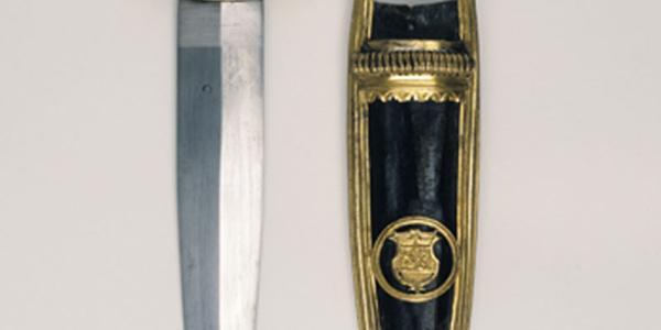 Dague avec fourreau aux armes de Pierre d'Englisberg