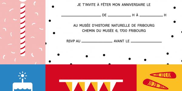 Invitation à un anniversaire au Musée