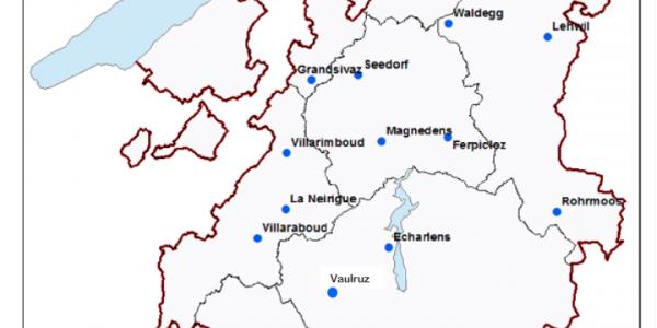 Carte des barrières du canton