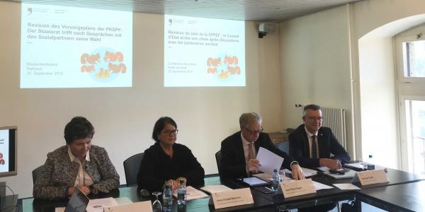 Medienkonferenz zur Reform der Pensionskasse