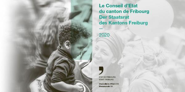 Page de couverture de la brochure de présentation du Conseil d'Etat 2020