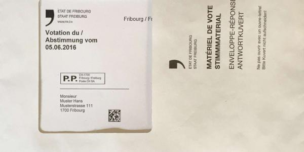 Stimmmaterial: Antwortkuvert