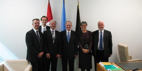 14 septembre 2010, Joseph Deiss reçoit la délégation fribourgeoise dans son bureau onusien à New York