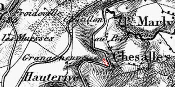 Carte Dufour de 1865
