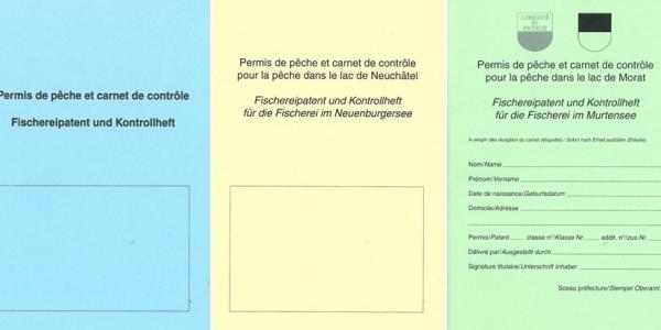 Die verschiedene Fischereipatente