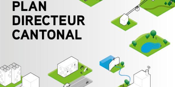 Banner illustrant des bâtiments et un paysage de manière graphique