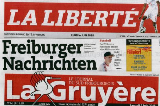 Presse fribourgeoise à la Bibliothèque cantonale et universitaire