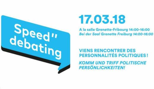 Conseil des jeunes : après-midi de Speed debating samedi 17 mars 2018