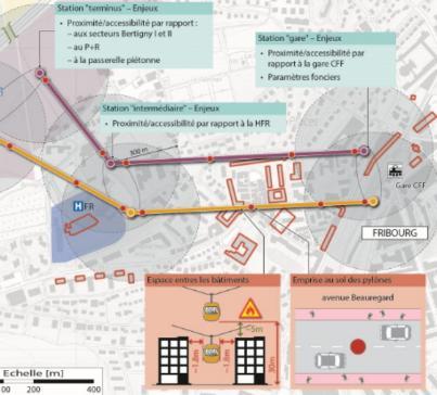 Un métrocâble à Fribourg : trop tôt, mais une solution à retenir d'ici 20 ou 30 ans