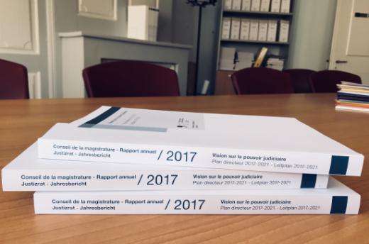 Jahresbericht 2017 des Justizrates über seine Tätigkeit und diejenige der kantonalen Gerichtsbehörden