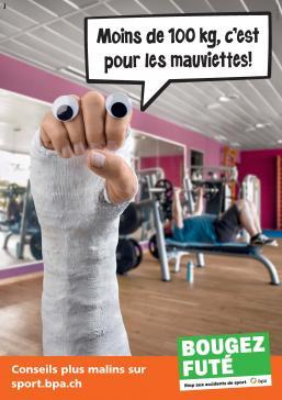 Prudence avec les bonnes résolutions : Quelque 4'300 adeptes de fitness se blessent chaque année