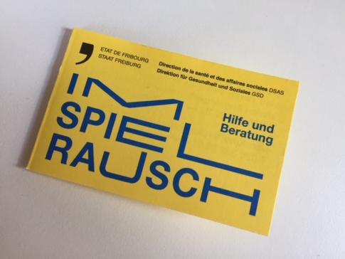 Spielsucht : ein Flyer mit Informationen für Betroffene und deren Angehörige