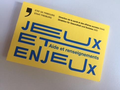 Un flyer avec les adresses utiles en cas d'addiction au jeu