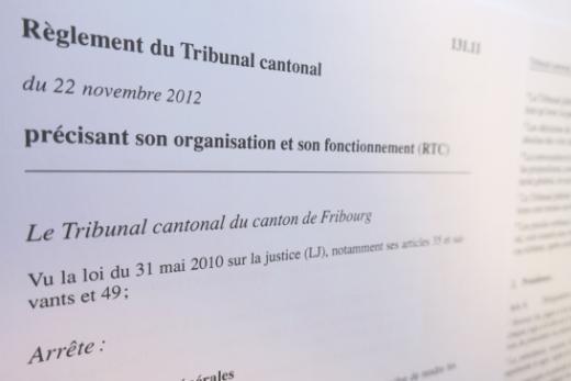 Règlements du Tribunal cantonal