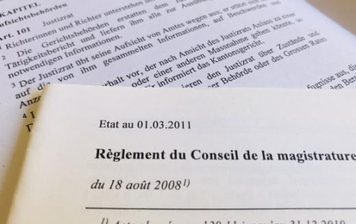Gesetzestexte und Reglemente betreffend den Justizrat