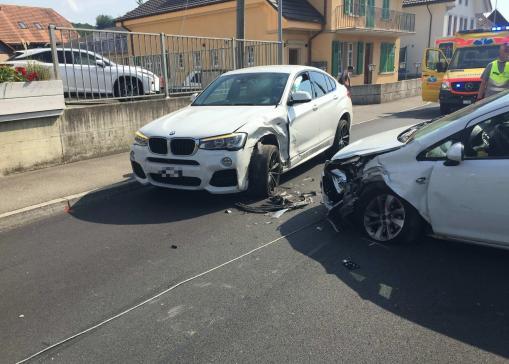 Verkehrsunfall fordert drei Verletzte in Galmiz