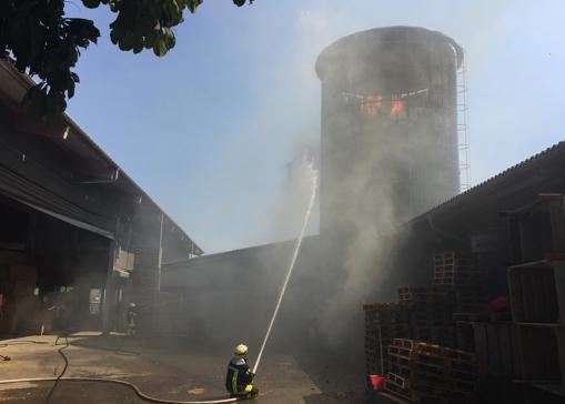 Brand einer Siloanlage in Fendringen - Ursache geklärt