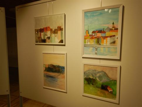 Exposition de peintures, à Grangeneuve