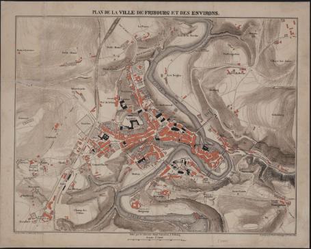 Cartes et plans conservés à la Bibliothèque cantonale et universitaire