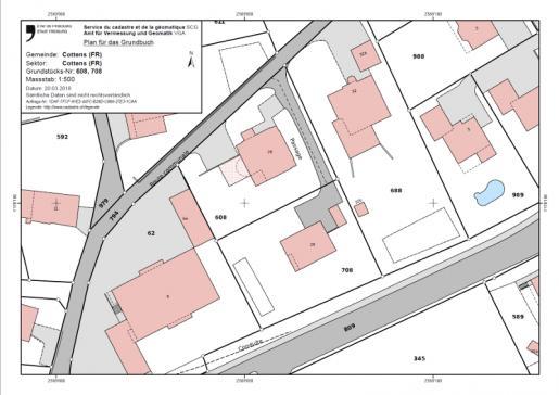 Plan du registre foncier