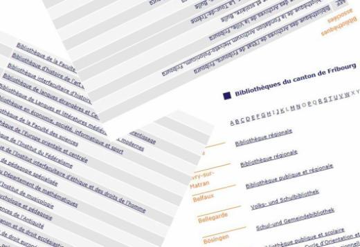 Annuaire des bibliothèques du canton de Fribourg